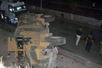 Şırnak'ta asker araç devrildi!