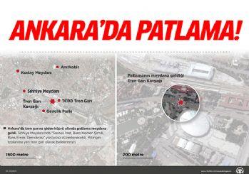 Ankaradaki patlamalardan ilk görüntüler!