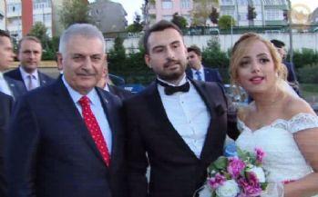 Başbakan Yıldırım'dan yeni evli çifte sürpriz