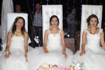 Üç kız kardeş mutluluğa birlikte 'evet' dedi