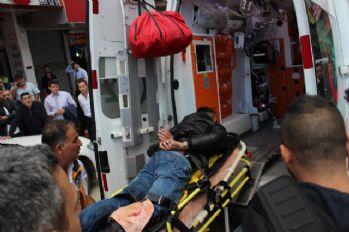 Döner bıçaklı soyguncu polis tarafından vuruldu!