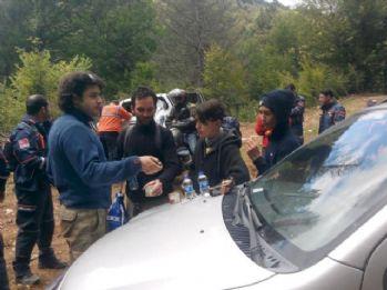 Ormanda kaybolan 6 kişi 12 saat sonra bulundu