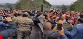 6 teröristi öldüren askerler kutlamayla karşılandı