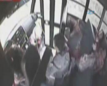 Öğrenci servisi kazası kamerada