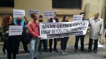 Beyoğlu esnafından Sinan Çetin eylemi