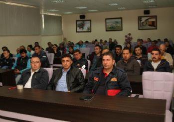 Büyükşehirin Kula'daki personeline iş güvenliği eğitimi verildi