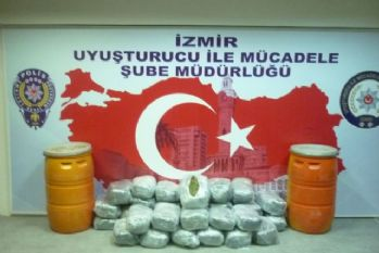 Tam 102 kilogram: İzmir'de ele geçirildi