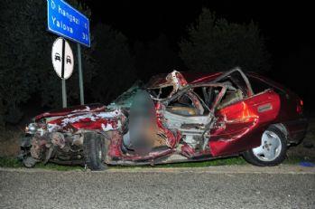 Düğün dönüşü korkunç kaza: 2 ölü, 4 yaralı