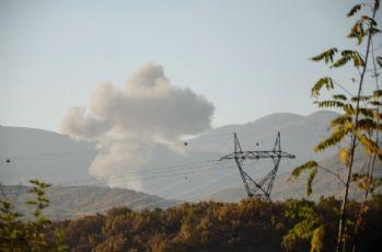Bomba yüklü araç helikopterle vuruldu