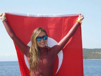 Erdoğan, dünya rekortmeni Ercümen'i kutladı