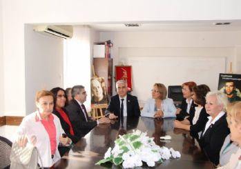 CHP Kadın Kolları heyeti, Başkan Kayalı ve CHP ile örgütünü ziyaret etti