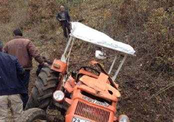 Kelkit'te traktör kazası: 3 yaralı
