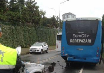 Rize'de Trafik Kazası, 1'i ağır 2 yaralı