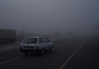 Bursa-İzmir kara yolunda yoğun sis