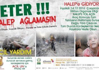 Bitlisliler 'Halep'e Yol Açın' konvoyuna katılacak