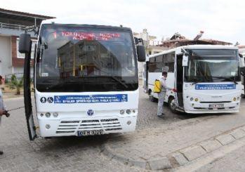 Büyükşehir toplu taşıma araçlarını gribe karşı dezenfekte ediyor