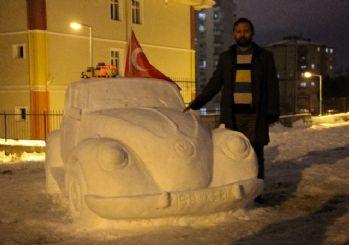 (Özel) Bu da kardan araba