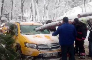 Taksici ölümden kıl payı kurtuldu