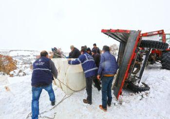 Bursa'da 2 metrelik karla amansız mücadele