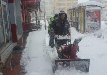 Seydişehir'de kar temizleme çalışmaları sürüyor