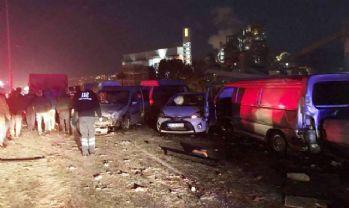 İzmir'de 20 araç birbirine girdi: 1 ölü, 7 yaralı