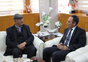 Şehit Ömer Halisdemir'in babasından Rektör Demirdağ'a ziyaret