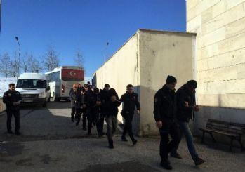 Sakarya'da 8 PKK şüphelisi adliyeye sevk edildi