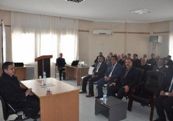 Sincik'te muhtarlara muhtar bilgi sistemi eğitimi verildi