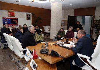 Engelli vatandaşlardan Başkan Duruay'a ziyaret