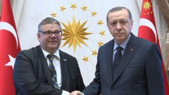 Erdoğan, Finlandiya Dışişleri Bakanını kabul etti