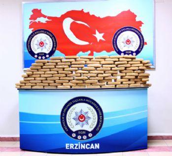 Erzincan'da 51 kilo eroin ele geçirildi