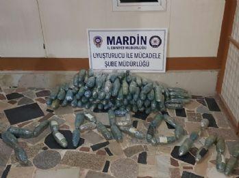 Mardin'de 89 kilogram esrar ele geçirildi