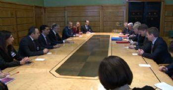 Akıncı İngiltere Dışişleri Bakanı Johnson ile görüştü
