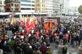 İstanbul'da 'terör' protestosu