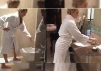 Ünlü oyuncu tuvaletten video yayınladı!