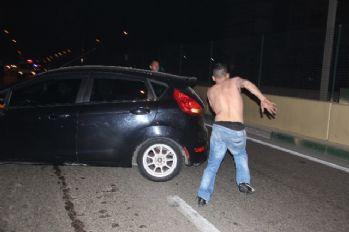 3 aracı yaktı, polisten böyle kaçtı