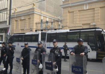 Rusya Konsolosluğu önünde güvenlik önlemi alındı