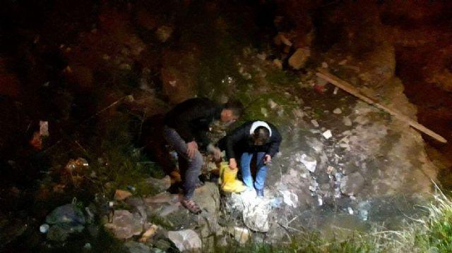 Katil zanlısı su kanalında yakalandı