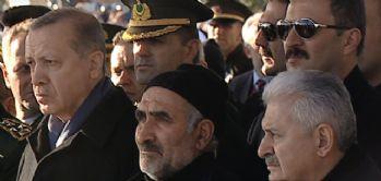 Erdoğan ve Yıldırım şehit cenazesine katıldı