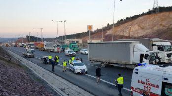 Kuzey Marmara Otoyolu'nda trafik durma noktasına geldi