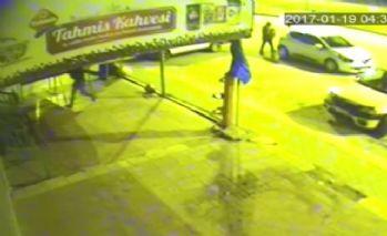 Sucuk hırsızlığı güvenlik kamerasında