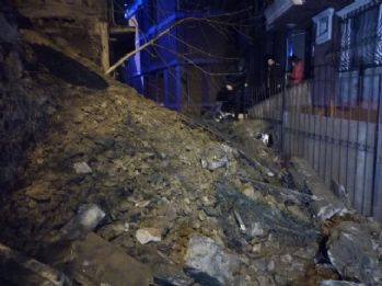 Şişli'de panik anları: Büyük bir gürültüyle uyandılar