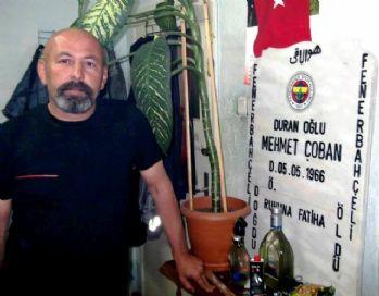 Fenerbahçe aşkını mezar taşına ve kefenine işledi