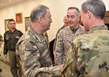 Genelkurmay Başkanı Akar, ABD'li mevkidaşı Dunford ile görüştü