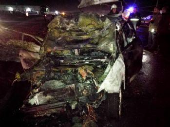 1 kişinin yanarak öldüğü kazada kaçan 3 kişi yakalandı