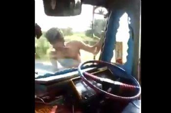 Kamyon şoförü çılgınlıkta çığır açtı !