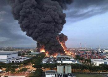 Singapur'da atık tesisinde patlama