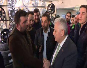 Başbakan Yıldırım esnaftan 'evet' yanıtı aldı