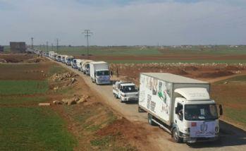 25 tırlık konvoy El Bab'da