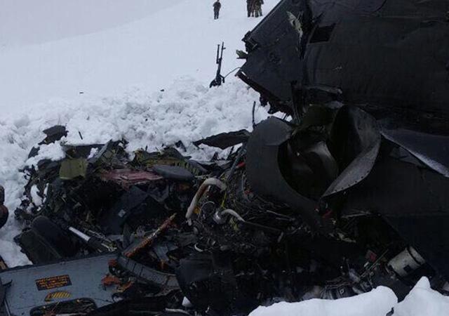 Tunceli'deki helikopter kazasından ilk görüntüler! VİDEO